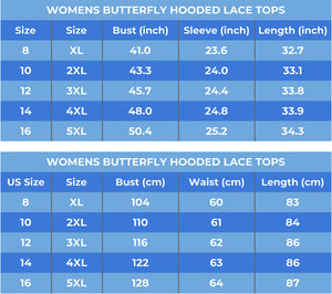 Long Sleeve Hooded Butterfly Top
