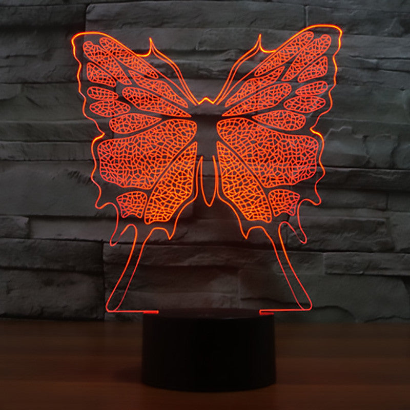 High Quality 3D Illusion Butterfly LED Lamp   Freedom Look