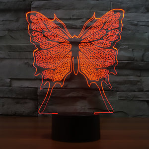 High Quality 3D Illusion Butterfly LED Lamp - Freedom Look