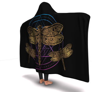 Circle Dragonfly Hooded Blanket (S) - Freedom Look