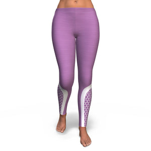 Hexagonal Printed Leggings - Purple