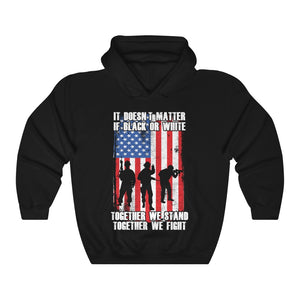 American Army With US Flag Military Soldier Together We Fight Unisex Hoodie
