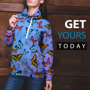 Colorful Butterfly Hoodie - Freedom Look