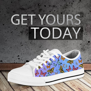 Colorful Butterflies Low Top Shoes - Freedom Look