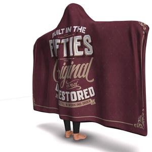 Built In The Fifties Hooded Blanket - Freedom Look