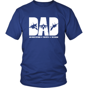 US Air Force Veteran Army Veteran's Day USAF Dad Thank You T-Shirt