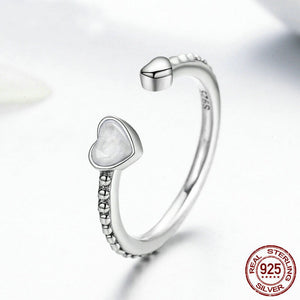 Double Hearts Of Love Ring - 925 Sterling Silver - Freedom Look