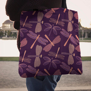 Dragonfly Violet Tote Bag - Freedom Look