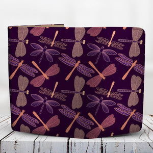 Dragonfly Violet Wallet - Freedom Look
