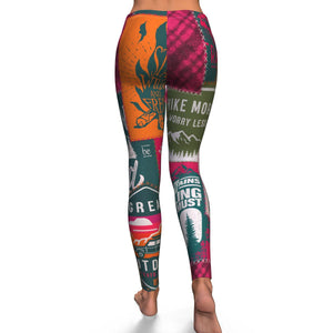 Camping Hiking Exploring Leggings - Freedom Look