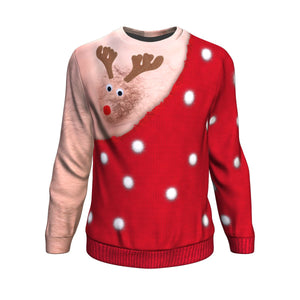 Funny Rudolph Ugly Christmas Sweater - Freedom Look