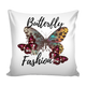 Butterfly Fashion Pillow With Insert - Freedom Look