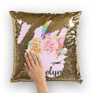 Butterfly Sequin Cushion Cover