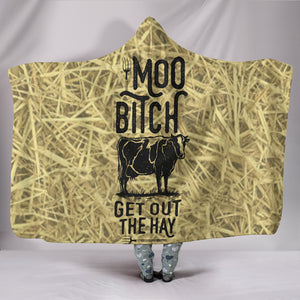 Cow Farm Lover - Cozy Warm Hooded Sherpa And Microfiber Blanket With Hood