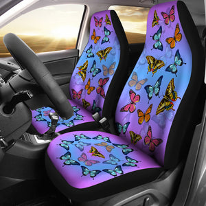 Colorful Butterflies Car Seat - Freedom Look