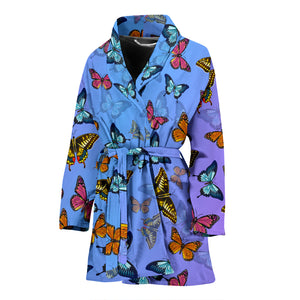 Colorful Butterfly Women's Bath Robe - Freedom Look