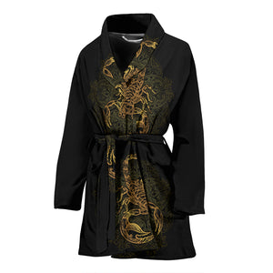 Golden Scorpio Women's Bath Robe - Freedom Look
