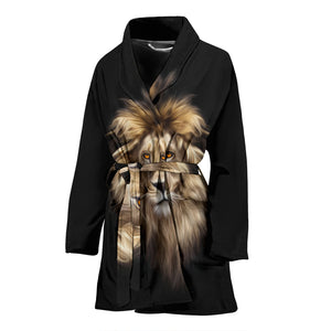 Lion Head Women's Bath Robe Housecoat Wrapper for Birthday Christmas Gift