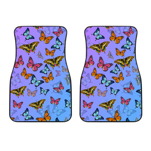 Colorful Butterfly Front Car Mats (Set Of 2) - Freedom Look