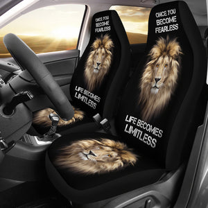 Fearless Lion Car Seat Covers - Freedom Look
