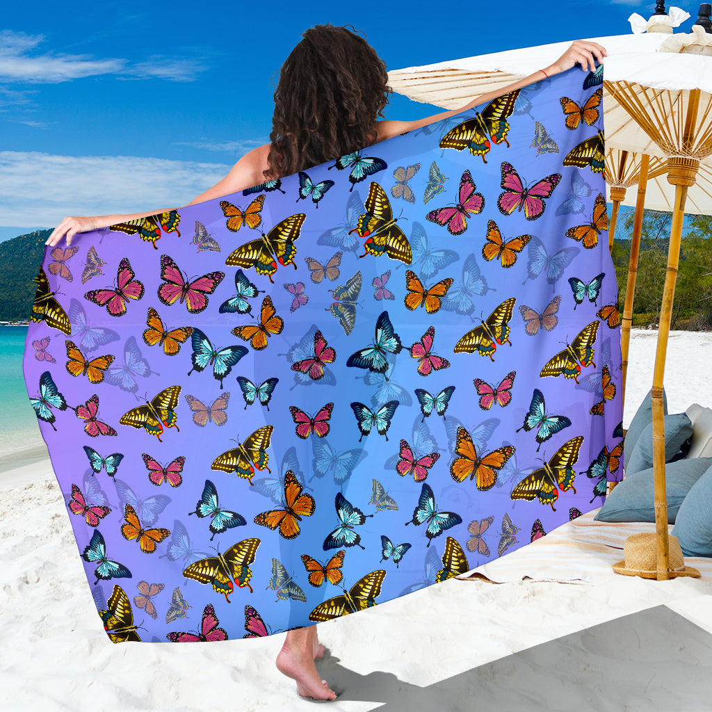 6678f17b8e993 Butterflies Sarong Scarf Blanket, Butterfly Lover Gift, Pretty Butterfly  Beach Wrap Cover Up,