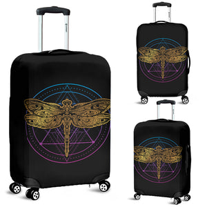 Dragonfly Circle Luggage Cover - Freedom Look