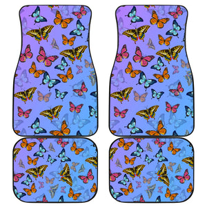 Butterfly Front And Back Car Mats (Set Of 4) - Freedom Look