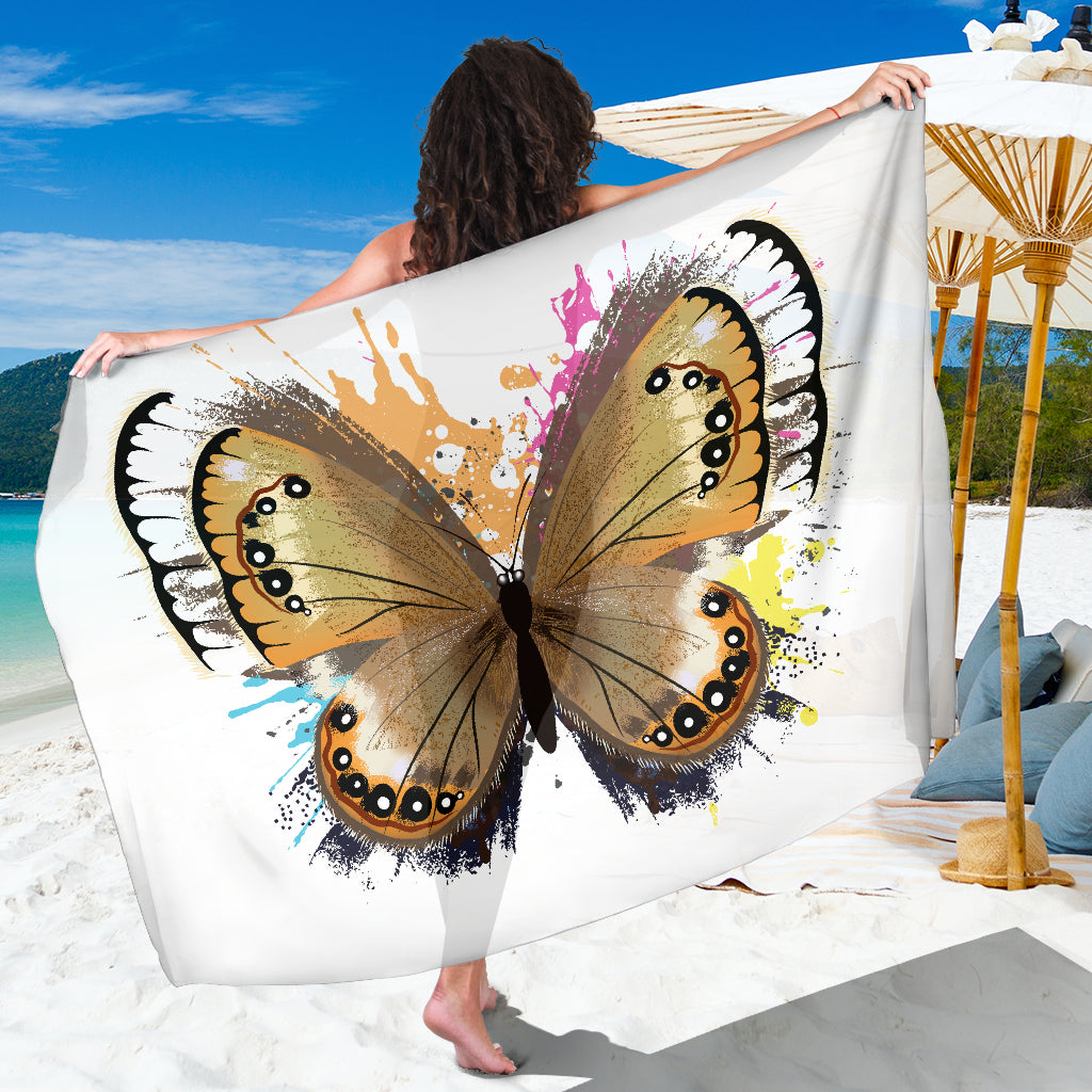 3abc90f924 Butterfly Sarong Scarf Blanket, Butterfly Lover Gift, Pretty Butterfly  Beach Cover Up, Beach