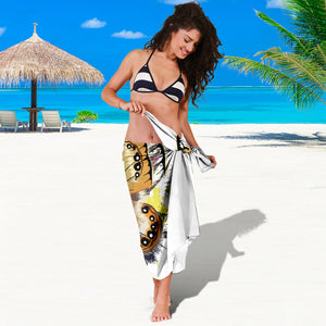Butterfly Sarong Scarf Blanket, Butterfly Lover Gift, Pretty Butterfly Beach Cover Up, Beach Sarong Skirt Dress - Freedom Look