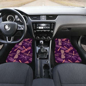 Dragonfly Violet Front And Back Car Mats (Set Of 4) - Freedom Look