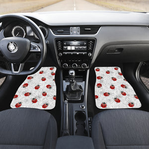 Ladybug & Flowers Front And Back Car Mats (Set Of 4) - Freedom Look
