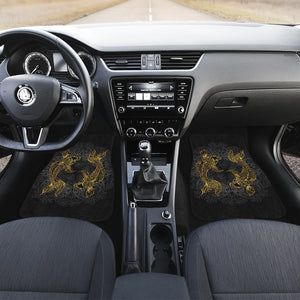 Golden Pisces (Fish) Zodiac Front Car Mats (Set Of 2) - Freedom Look
