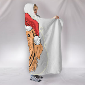 Golden Christmas Hooded Sherpa Blanket for Golden Retriever Dog Lovers
