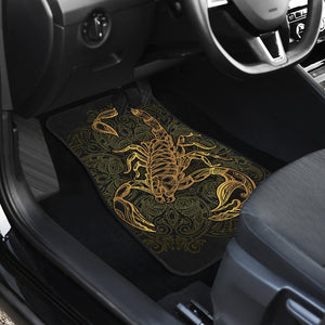 Golden Scorpio Front Car Mats (Set Of 2) - Freedom Look