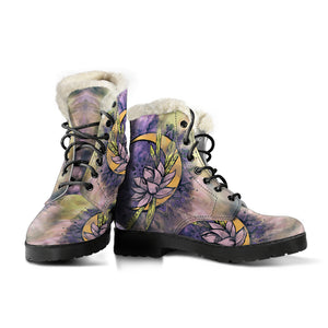 Moon Lotus Faux Fur Lined Women's Vegan-Friendly Leather Boots