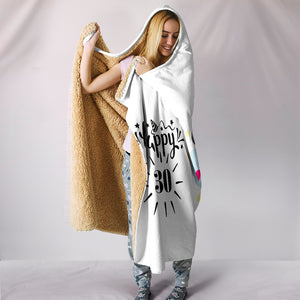 Sheep Trance Hooded Blanket