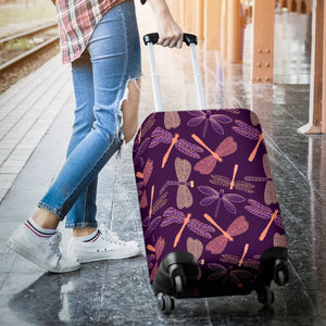 Dragonfly Violet Luggage Covers - Freedom Look