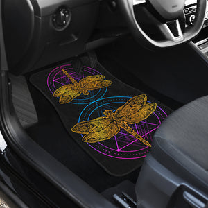Dragonfly Front Car Mats, Dragonflies Car Floor Mats (Set Of 2) - Freedom Look