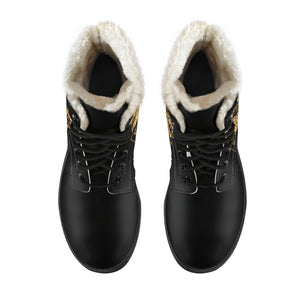 Capricorn Zodiac Faux Fur Leather Boots - Freedom Look