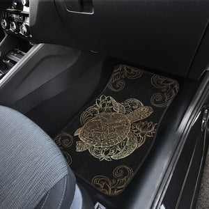 Golden Sea Turtle Front And Back Car Mats (Set Of 4) - Freedom Look