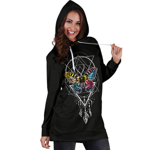 Feather Butterfly Hoodie Dress - Freedom Look