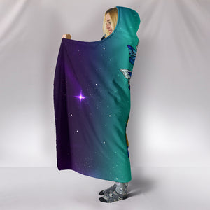Butterfly Infinity Hooded Blanket - Freedom Look