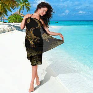 Pisces Zodiac Sarong Scarf, Fish Lover Gift, Pretty Pisces Beach Cover Up, Pisces Beach Sarong Skirt Dress