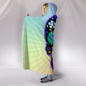 Sugar Skull Lover Hooded Sherpa And Microfiber Blanket With Hood