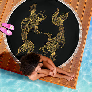 Fishes Pisces Zodiac Beach Blanket - Freedom Look