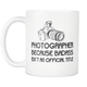 Photographer Badass Coffee Mug - Photography Related Gifts - Unique Gift For Photographer - Job Related Gift For Him Or Her (11 oz)