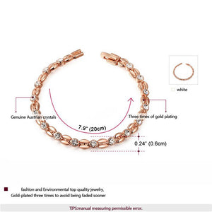 High-Quality Rose Gold & Silver Color Bracelet - Freedom Look