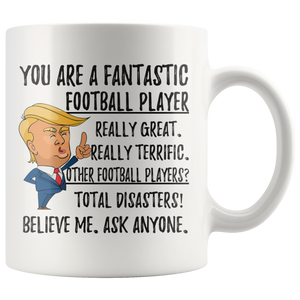 Funny Football Player Trump Coffee Mug (11 oz)
