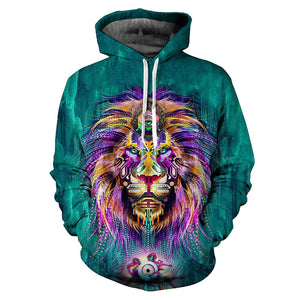 Lion Men/Women 3D Hoodie for this Autumn & Winter - Freedom Look