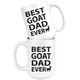 Best Goat Dad Coffee Mug (15 oz) - Freedom Look